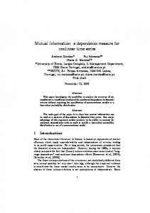 Mutual Information: a dependence measure for nonlinear time series
