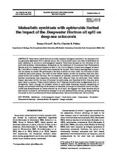 Mutualistic symbiosis with ophiuroids limited the impact of the ...