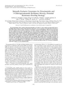 Mutually Exclusive Genotypes for Pyrazinamide and 5 ...