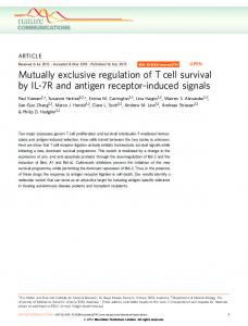 Mutually exclusive regulation of T cell survival by ... - Semantic Scholar