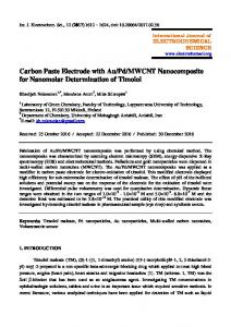 MWCNT Nanocomposite for