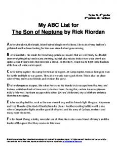 My ABC List for The Son of Neptune by Rick Riordan