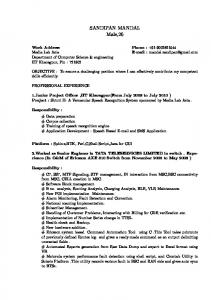 My CV - Department of Computer Science and Engineering - Indian ...