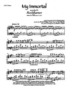 My Immortal Solo Piano - Fichier PDF