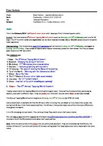my latest EFT Newsletter - Tap 4 Peace