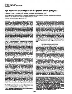 Myc represses transcription of the growth arrest gene gas1 - PNAS