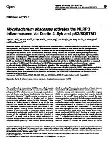 Mycobacterium abscessus activates the NLRP3 inflammasome via ...