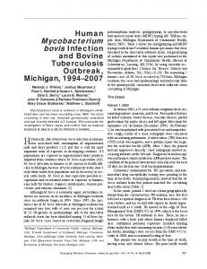 Mycobacterium - Centers for Disease Control and Prevention
