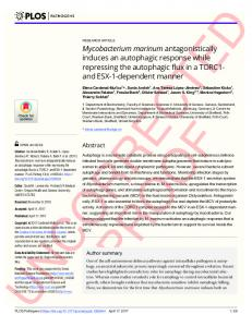 Mycobacterium marinum antagonistically induces an ... - PLOS