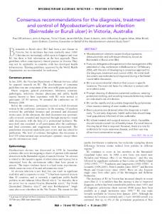 Mycobacterium ulcerans - The Medical Journal of Australia