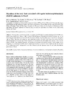 Mycoflora of the toxic feeds associated with equine ... - Springer Link