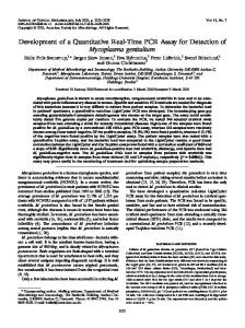 Mycoplasma genitalium - Journal of Clinical Microbiology - American ...