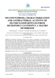 mycosynthesis, characterization and antibacterial activity of silver ...