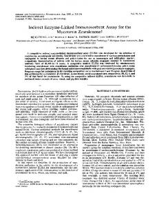 Mycotoxin Zearalenonet - Applied and Environmental Microbiology
