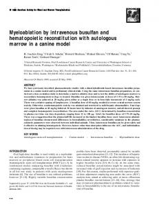 Myeloablation by intravenous busulfan and hematopoietic ... - Core