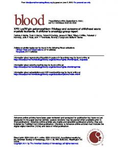 myeloid leukemia. A children's oncology group report