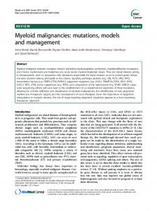 Myeloid malignancies: mutations, models and ... - ScienceOpen