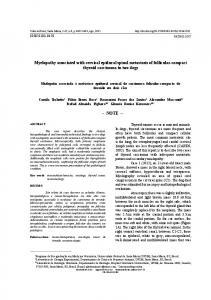 Myelopathy associated with cervical epidural spinal ... - scielo.br