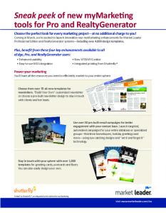 myMarketing flyer - Market Leader