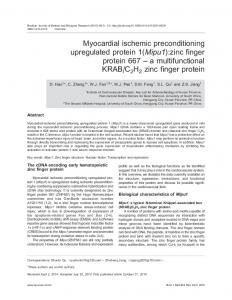 Myocardial ischemic preconditioning upregulated protein 1 ... - SciELO