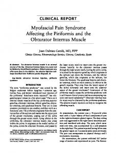 Myofascial Pain Syndrome Affecting the Piriformis and the Obturator