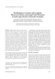 Myofibroblasts Correlate with Lymphatic Microvessel Density and ...