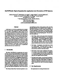 MyP2PWorld: Highly Reproducible Application-level ... - SODA