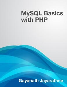 MySQL Basics with PHP - Leanpub