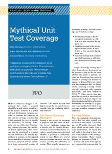 Mythical Unit Test Coverage