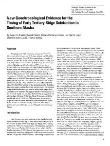 N ew Geochronological Evidence for the Timing of Early ... - CiteSeerX
