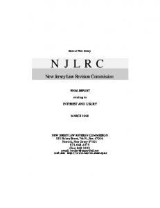 N J L R C - New Jersey Law Revision Commission