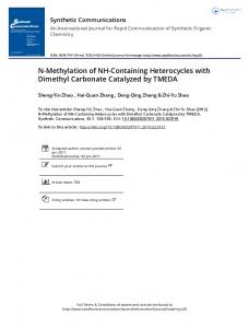 N-Methylation of NH-Containing Heterocycles with