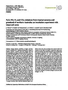 N2O, NO, N2 and CO2 emissions from tropical ... - Biogeosciences