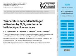 N2O5 reactions on halide-doped ices
