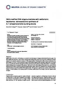 NAA-modified DNA oligonucleotides with ... - Beilstein Journal