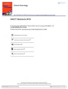 NACCT Abstracts 2016