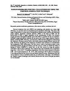 nafion membranes for fuel cells studied by using the ...