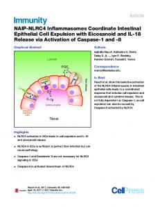 NAIP-NLRC4 Inflammasomes Coordinate Intestinal Epithelial Cell ...