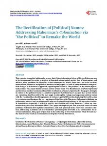 Names - Scientific Research Publishing
