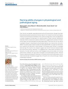 Naming ability changes in physiological and ... - BioMedSearch