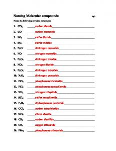 Naming Ionic Compounds Practice Worksheet - MAFIADOC.COM