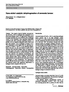 Nano-nickel catalytic dehydrogenation of ammonia borane ...