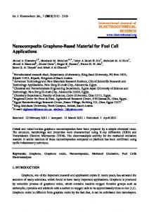 Nanocomposite Graphene-Based Material for Fuel Cell Applications