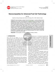 Nanocomposites for Advanced Fuel Cell Technology