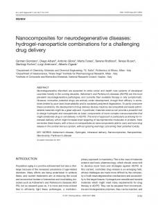 Nanocomposites for neurodegenerative diseases ...