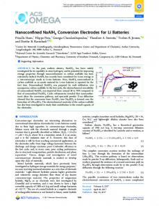 Nanoconfined NaAlH4 Conversion Electrodes for ... - ACS Publications