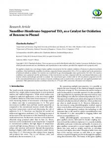 Nanofiber-Membrane-Supported TiO2 as a Catalyst for Oxidation of