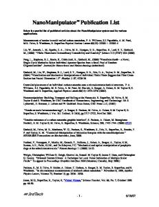 NanoManipulator Publication List - 3rdTech, Inc.