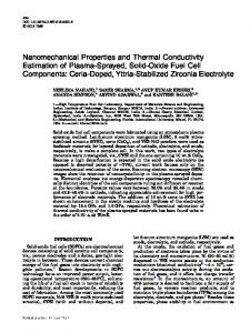 Nanomechanical Properties and Thermal Conductivity Estimation of