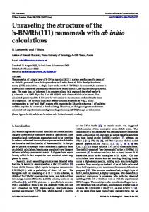 nanomesh with ab initio calculations - CMS